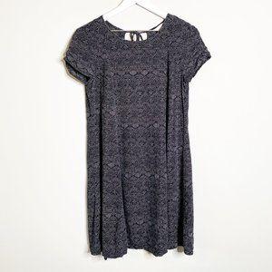 H&M Black & White Circle Print T-Shirt Dress